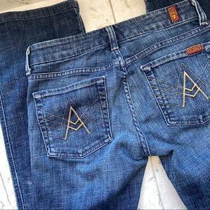 "7 For All Man Kind Jeans ""A Pocket"" Flare size 27"
